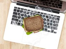 Sandwich At Work Stock Images