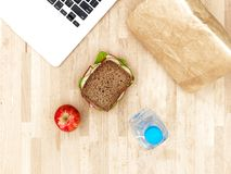 Sandwich At Work Royalty Free Stock Image