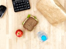 Sandwich At Work Stock Photos