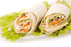 Sandwich wrap Stock Photo