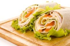Sandwich wrap Stock Image