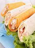 Sandwich wrap Royalty Free Stock Photos