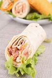 Sandwich wrap Royalty Free Stock Images