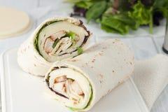 Sandwich wrap or tortilla Royalty Free Stock Photos