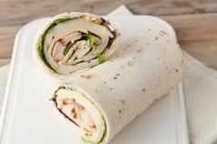 Sandwich wrap or tortilla Stock Photos