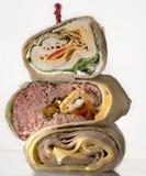 Sandwich wrap. On white background Royalty Free Stock Image