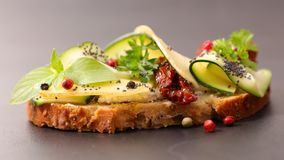 Sandwich with zucchini royalty free stock photos