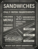 Sandwichaffiche Stock Afbeeldingen