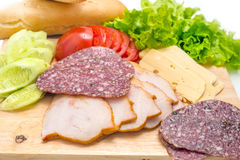 Sandwichbestandteile Stockfoto