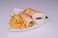 Sandwichbroodje Royalty-vrije Stock Afbeelding