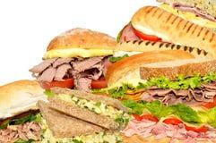 Sandwichcollage royalty-vrije stock foto