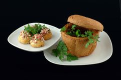 Sandwiche mit Brot Lizenzfreies Stockfoto