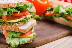 Sandwiche und Gemüse Nahrung Neues u. gesundes Lebensmittel Konzept Stockfoto