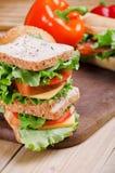 Sandwiche und Gemüse Nahrung Neues u. gesundes Lebensmittel Konzept Lizenzfreies Stockbild