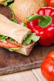 Sandwiche und Gemüse Nahrung Neues u. gesundes Lebensmittel Konzept Stockfotos