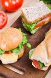 Sandwiche und Gemüse Nahrung Neues u. gesundes Lebensmittel Konzept Stockbilder