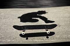 Sandwiched skateboard Stock Photography