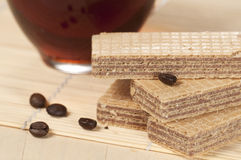 Sandwiched wafers Royalty Free Stock Photo