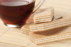 Sandwiched wafers Royalty Free Stock Photography