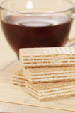 Sandwiched wafers Stock Image