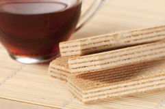 Sandwiched wafers Royalty Free Stock Photos