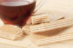 Sandwiched wafers Stock Photography