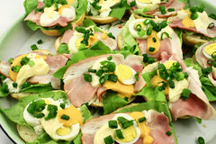 Sandwiches. Few sandwiches on the plate Royalty Free Stock Photos
