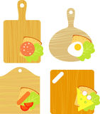 Sandwiches. With a variety of products Royalty Free Stock Images