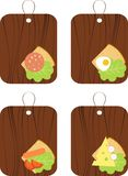 Sandwiches. With sausage, salad, cheese and eggs Royalty Free Stock Photo