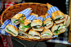 Sandwiches. Bunch of freshly made sandwiches with organic ingredients Stock Images