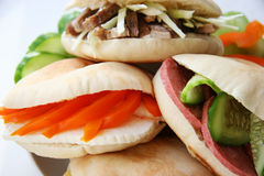 Sandwiches. stock images