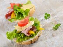 Sandwiches Royalty-vrije Stock Afbeeldingen