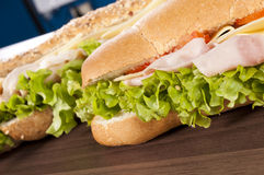 Sandwiches royalty free stock photos