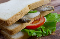 Sandwiches with anchovies Royalty Free Stock Image