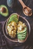 Sandwiches with avocado and eggs royalty free stock images