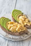 Sandwiches with avocado and eggs royalty free stock image