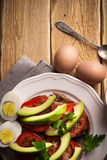 Sandwiches with avocado and tomatoes Stock Images