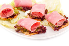 Sandwiches with bacon and lettuce Royalty Free Stock Photos