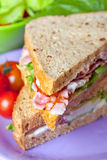 Sandwiches with bacon, lettuce and tomato Royalty Free Stock Images