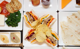 Sandwiches on banquet table Royalty Free Stock Photography