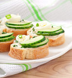Sandwiches with boiled egg Royalty Free Stock Photo