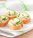Sandwiches with boiled egg Stock Image
