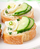 Sandwiches with boiled egg Stock Photography