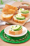 Sandwiches with boiled egg Royalty Free Stock Image