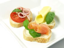 Sandwiches for breakfast. Stock Photography