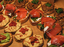 Sandwiches at the buffet Royalty Free Stock Photography