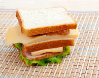 Sandwiches with cheese and ham Stock Photos