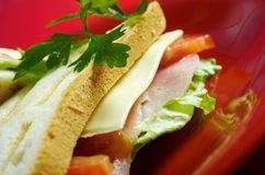Sandwiches with cheese and ham Stock Photo