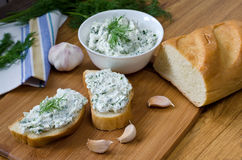 Sandwiches with cheese and parsley. Stock Photography