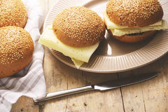 sandwiches with cheese Stock Images